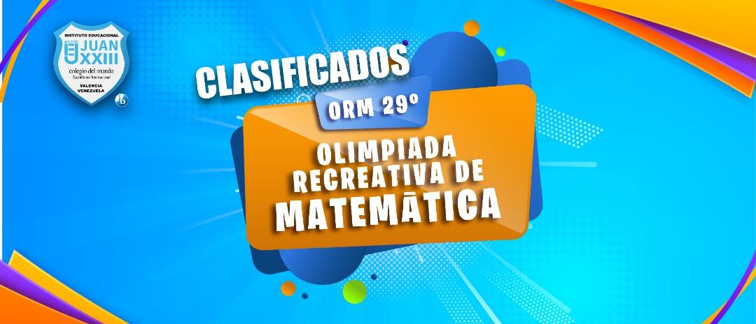 42 estudiantes clasificaron a la Olimpiada Recreativa Regional de Matemática