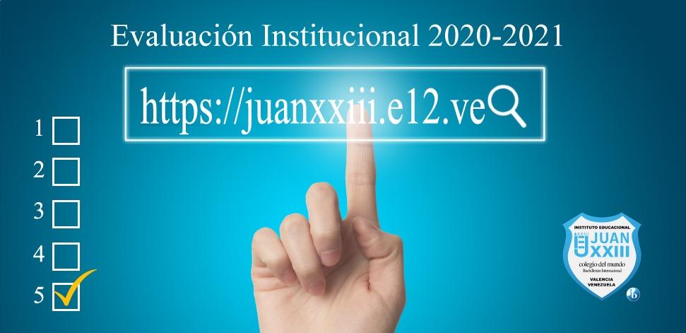 Evaluación Institucional 2020-2021