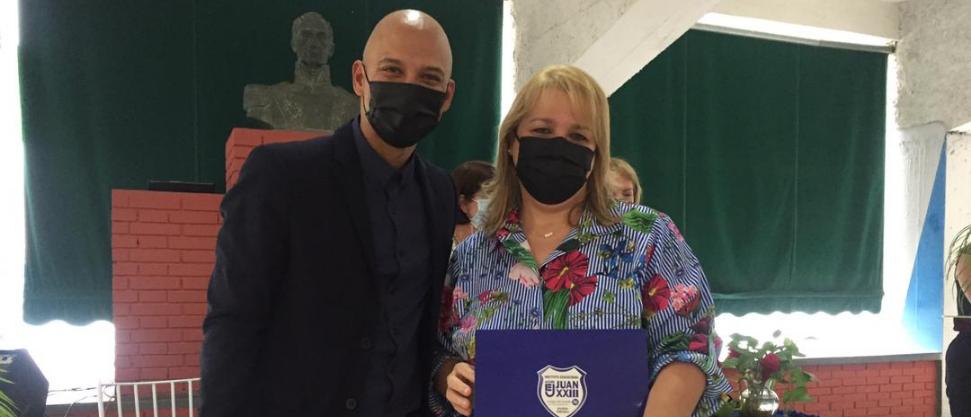 16 docentes y personal administrativo recibieron condecoración de Andiep