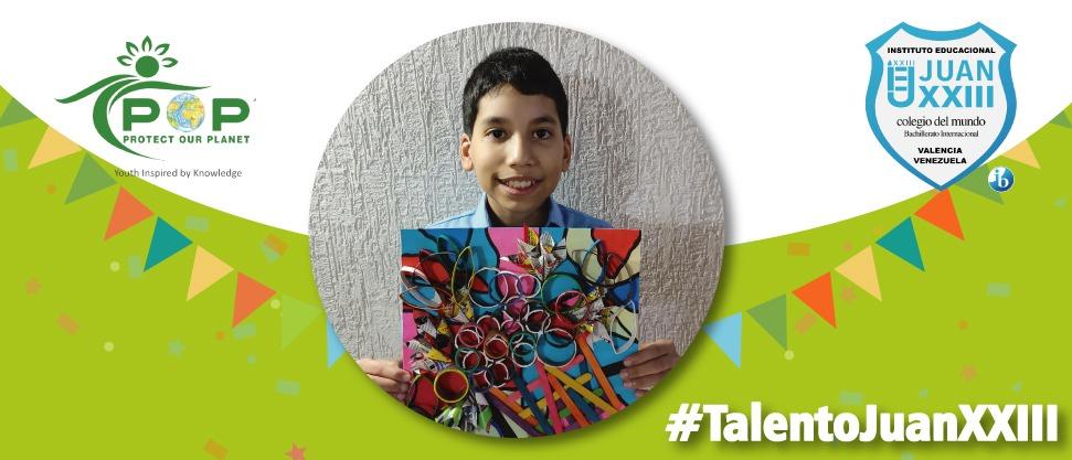 Daniel Pérez obtuvo el segundo lugar en el I Concurso Eco Art POP Reciclaje