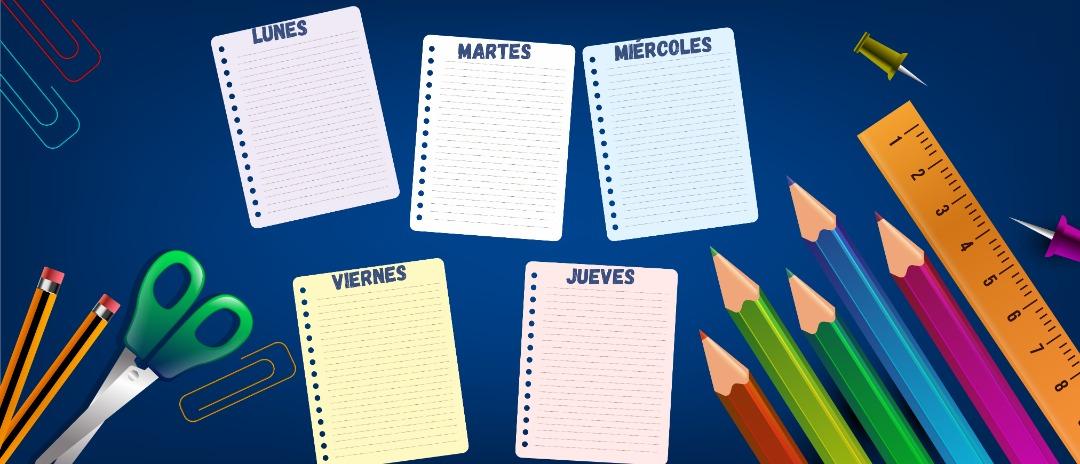 Cronograma del 20 al 24 de septiembre para Bachillerato